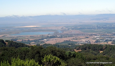View from Sugarloaf Mountain in Napa to the west.