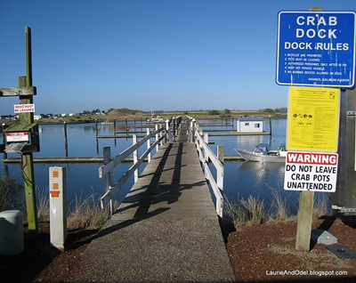 One of the crab docks at Winchester Bay.
