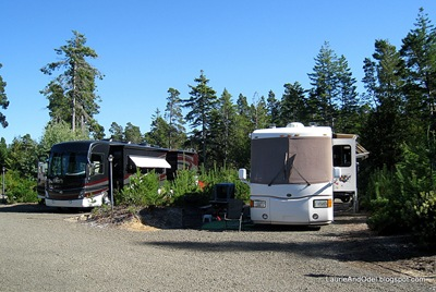 Site 29 Florence Elks RV park, a long pull through