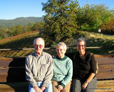 My Dad, Mom and me at Fitzpatrick Winery