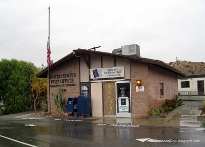 General Delivery at the post office in Aguanga, CA