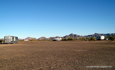 Boondocking at Quartzsite in December - where is everyone??  :)