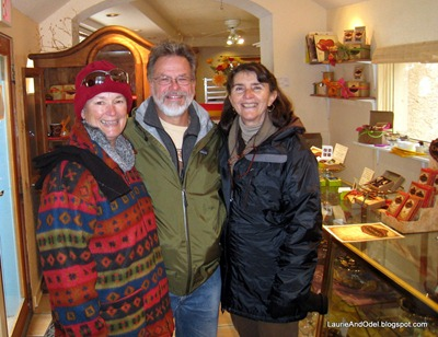 Laurie, Jeff and Margaret on a cold Bisbee morning.
