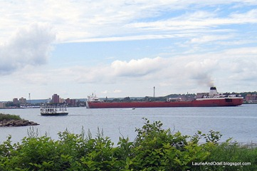 Next in line, and the Soo Locks tour boat