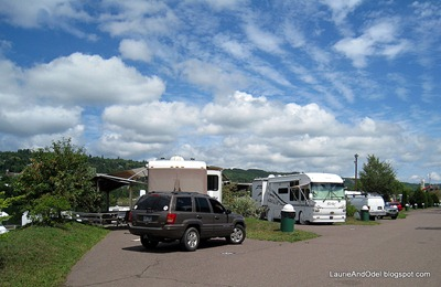 Our row at Houghton RV Park