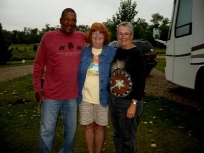 Odel, Sue, and me; thanks for the photo, Sue!