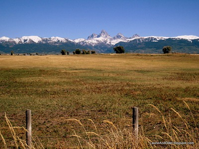 Teton Range from the west, near Tetonia, Idaho