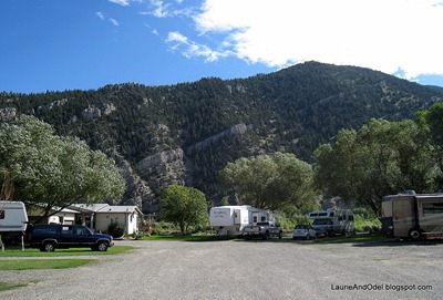 Looking east at Rock Canyon Campground