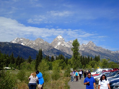 Plenty of tourists still enjoying Grand Teton National Park.