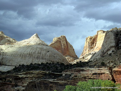 East side of Capitol Reef