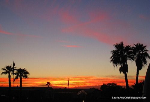 Christmas sunset in Yuma