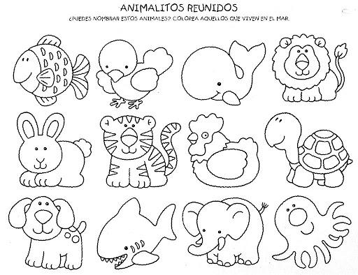 LAMINAS PARA COMPLETAR DIBUJOS DE ANIMALES POR NIÑOS