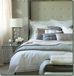 upholstered headboard white