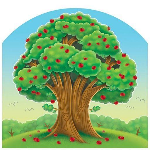 Dibujo cuando comienza la primavera con color imagui for Un arbol con todas sus partes