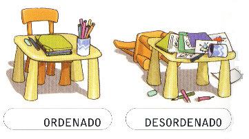Aprendiendo los opuestos for Cuarto ordenado y limpio