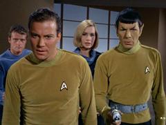 Leslie, Kirk, Dehner, Spock