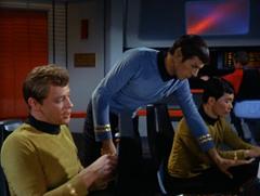 Bailey, Spock, Sulu, Leslie