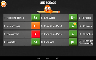 Screenshot of iTooch 3rd Grade Science