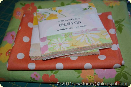 Dream On Charm Pack, tangerine dot