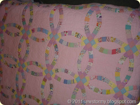 pink wedding ring quilt