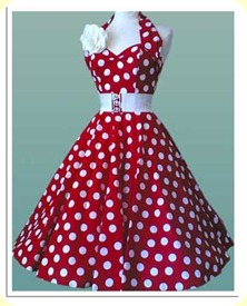 polka dot retro__dress