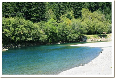 Chetco River from our Campground 4 - Brookings OR