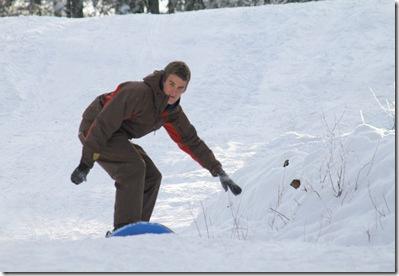 mark sledding