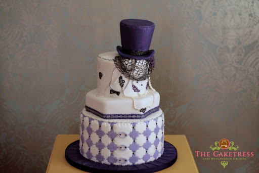 Color Inspiration Deep Purple Wedding Cakes