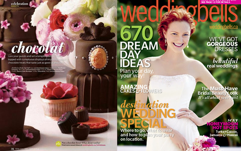 Toronto Magazine Mini Wedding Cakes -Weddingbells
