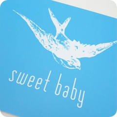 print blue sweet baby detail