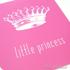 print little princess pink detail