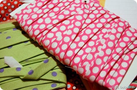 4 5 11 pink polka dot bias tape