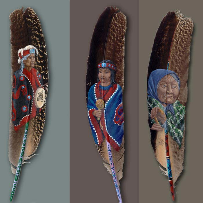 ` amaZing featHer paintinGs ```