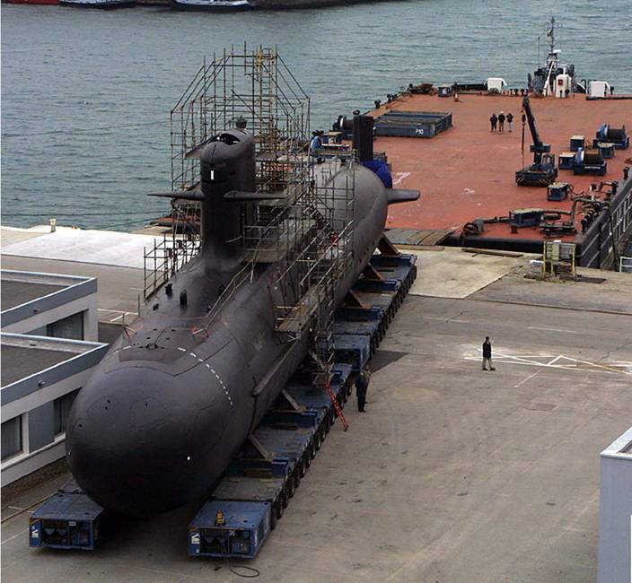 India's New Submarine - Scorpene under construction