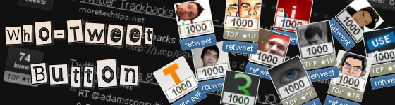 Who-Tweet Button - Fancy jQuery Plugin for Twitter
