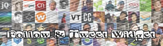 Follow & Tweet Widget - Another jQuery Plugin