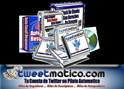 TWEETMATICO [ Curso en Video ] – Cómo ganar dinero en internet con Twitter en piloto automático.