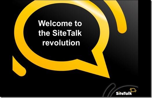 SiteTalk Gold - welcome