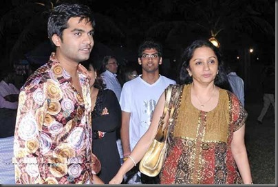 Simbu and trisha mom Uma krishnan