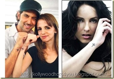 Hrithik his wife Suzanne Barbara Mori permanent body ink