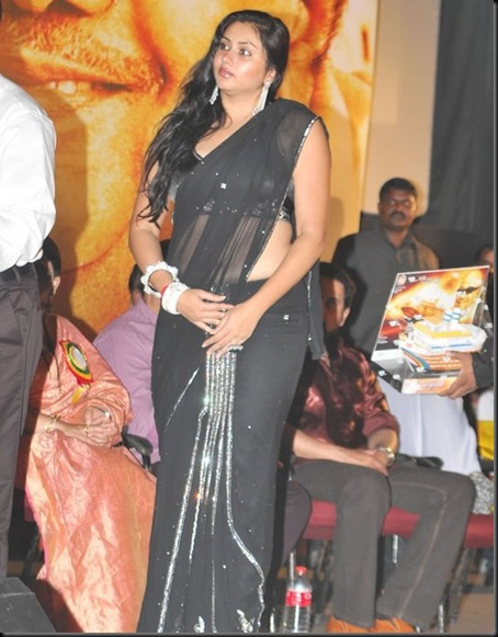 Namitha-in-Black-saree-4