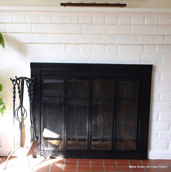more green for less green refinishing the fireplace