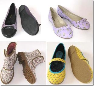 Sapatos em modelos originais.