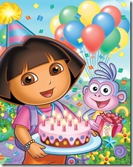 Dora's Big Birthday Adventure Episodic Art_3   (L-R): Dora, Boots Photo: Nickelodeon ©Viacom International Inc. All Rights Reserved.