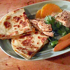 Seared Chicken With Squash Quesadilla
