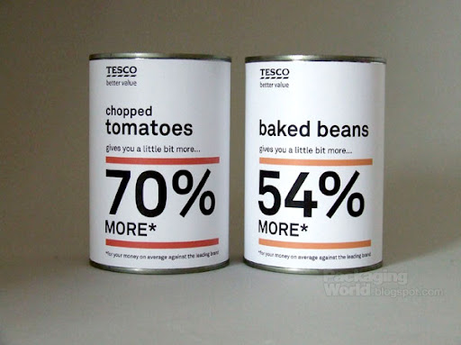 Tesco Baked Beans Packaging