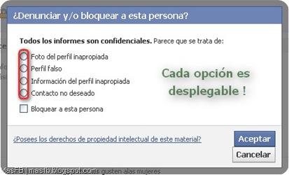 Reportar Perfil Facebook