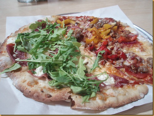 Pizza at the Red Grape