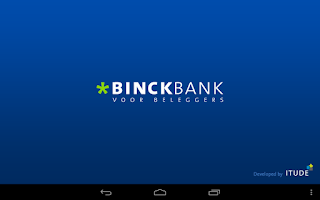 Screenshot of Binck beleggingsapplicatie