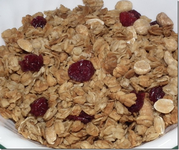 Peanut Butter Granola 1-26-11